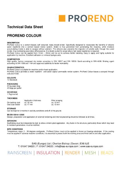 Premium through-coloured silicone monocouche render