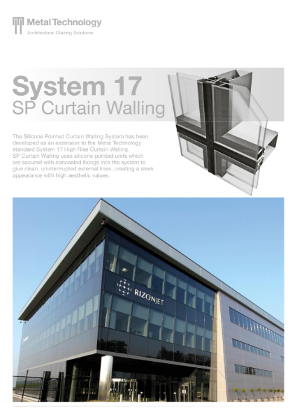 Aluminium Framed Silicone Pointed Curtain Walling