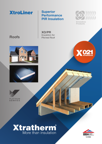 Insulation for Pitched Roofs (XO/PR)