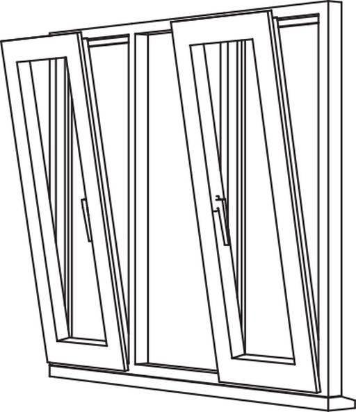 Zendow 5000 Tilt & Turn (Slim Sash) - TT5 Opener/Fixed/Opener