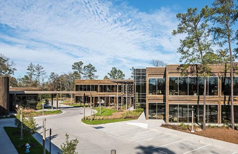 Accoya cladding at Geosouthern Energy's corporate headquarters