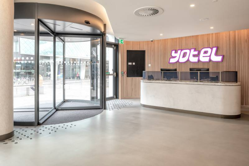 Entrance Matting Discs Create a Striking First Impression at Yotel Glasgow
