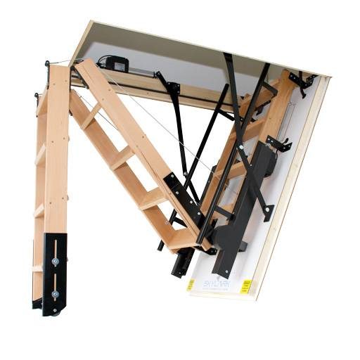 New Product - Skylark fully electric foldaway attic stairs