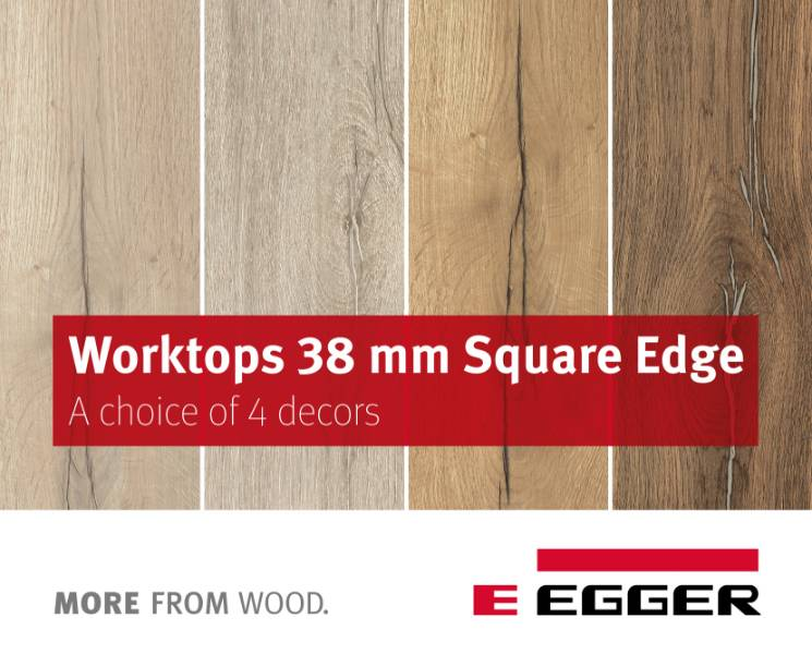 EGGER Worktops 38mm Square-edged