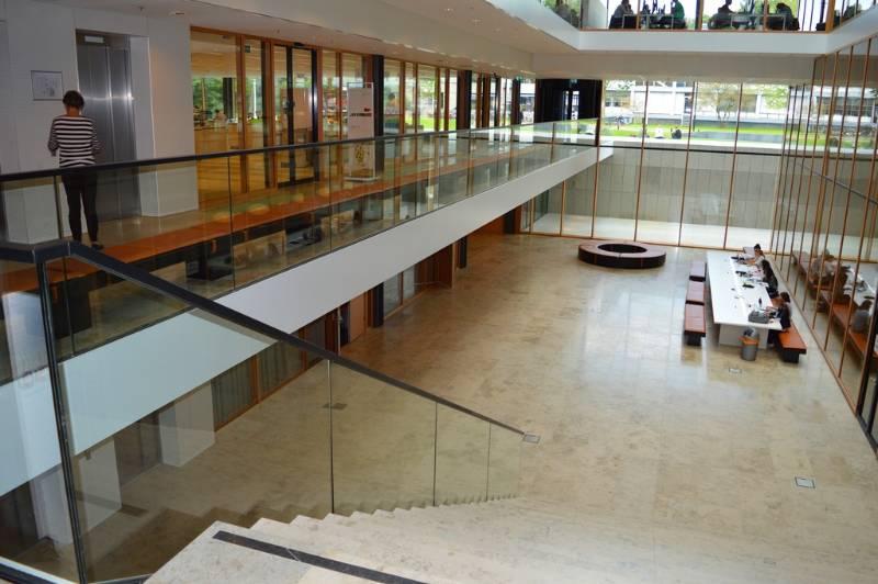 Easy Glass 3kN glass balustrade - Dutch university campus