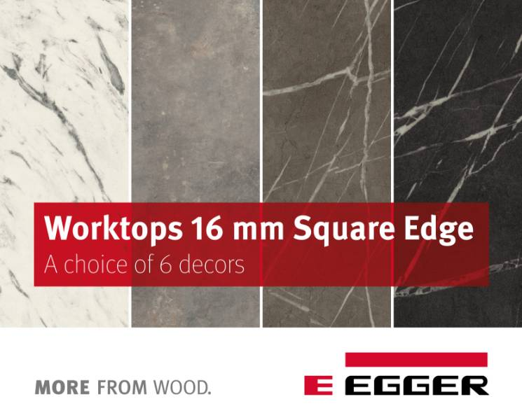 EGGER Worktops 16mm Square-edged