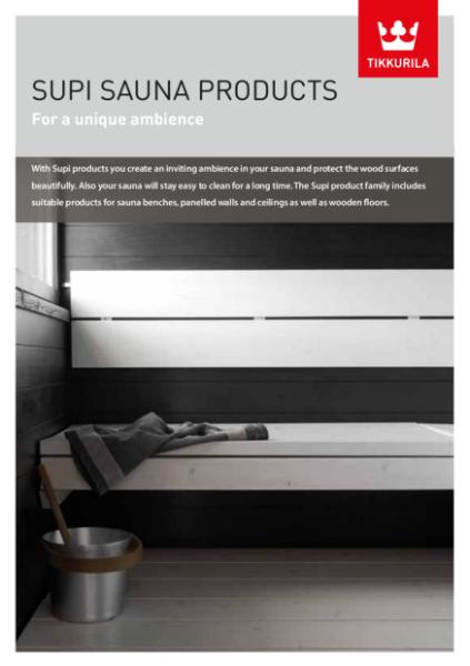 Supi Sauna Finish (Saunasuoja) Brochure