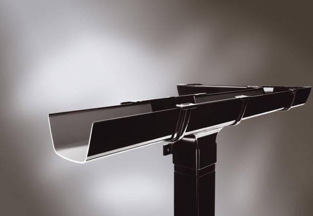 Flowline rectilinear PVC-U gutter