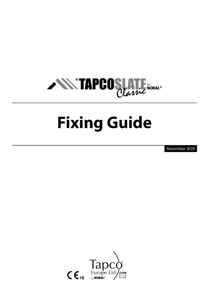TapcoSlate Classic Fixing Guide