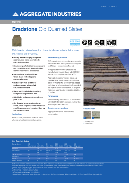 Bradstone Old Quarried Roofing Slates