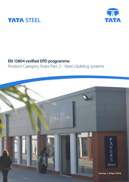 EPD PCR part 2 – cladding systems