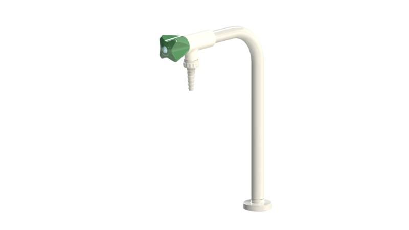 Table Mounted Laboratory Single Pillar Water Bib Tap