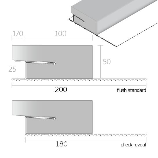 Dacatie 1 Hour Fire Rated XFR2000 Fire Cavity Barrier for Window and Door Reveals