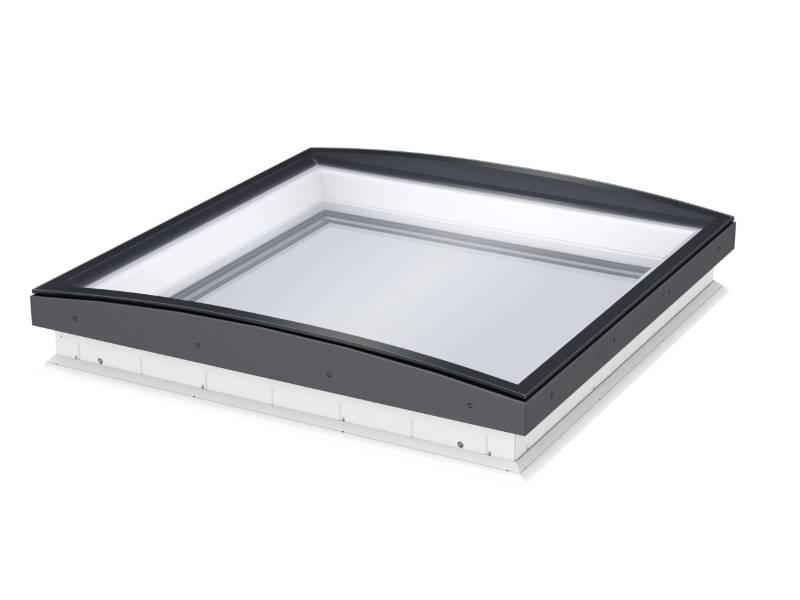 CFU Fixed Flat Roof Window, Curved Glass