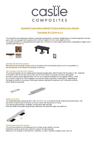 Aluminium Substructure Assembly Guide
