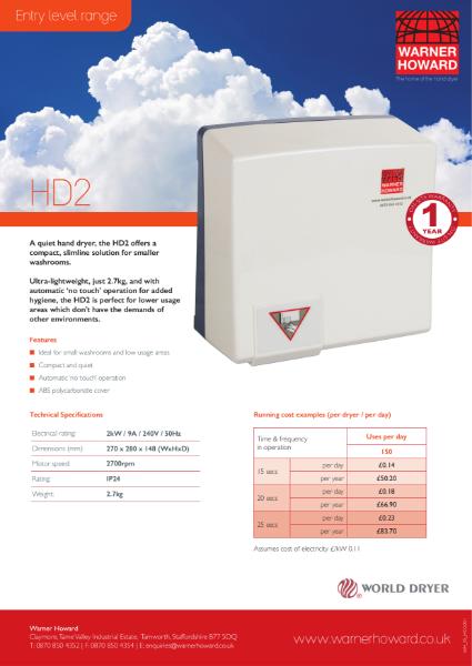 HD2 Hand Dryer