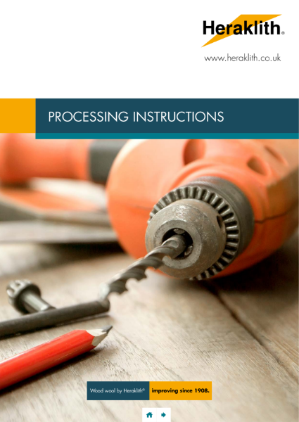 Heraklith Processing Guidelines