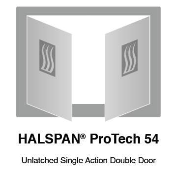 HALSPAN® ProTech 54 mm Interior Grade Door Blanks - Unlatched Single Acting Double Doors