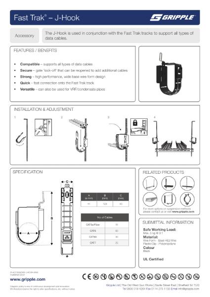 Fast Trak J-Hook PI Sheet