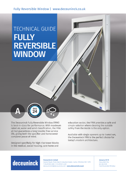 05. Fully Reversible Window FRW Datasheet