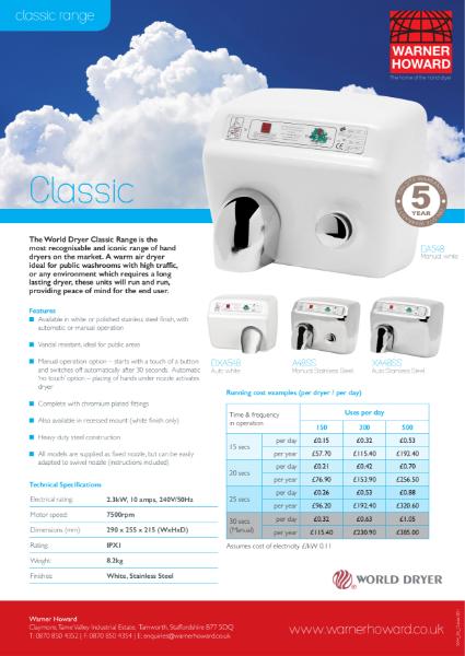 The World Dryer Classic Range