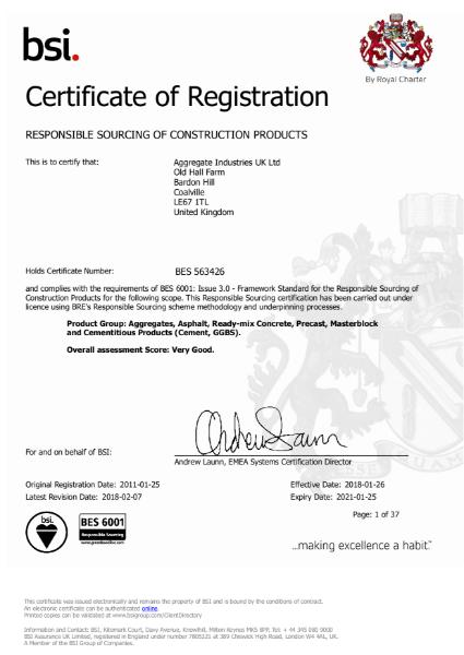BES6001 Certificate