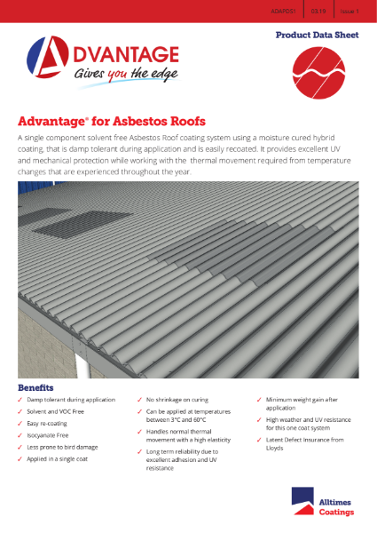 Advantage for Asbestos Roofs - Product Data Sheet