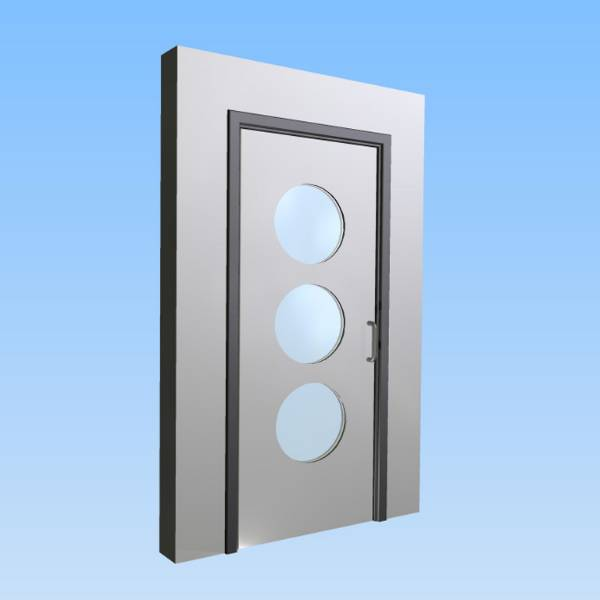 CS Acrovyn® Impact Resistant Doorset - Single with type VP7 Vision Panels