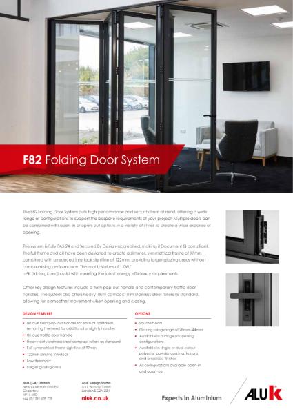 AluK F82 Folding Door System Datasheet