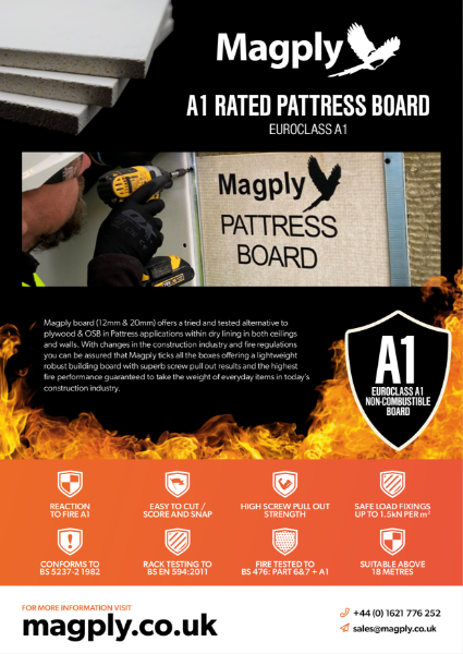 A1 Rated Pattress Board