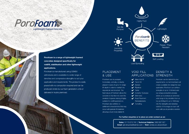 Porofoam - Foamed Concrete