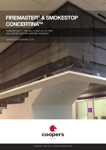 FireMaster® Concertina™  Active Fire Curtain Barrier
