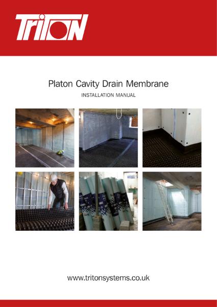 Triton Platon Cavity Drain Membrane Installation Manual