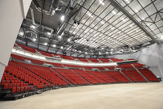 Fixed, retractable and VIP upholstered seating for Leeds First Direct Arena