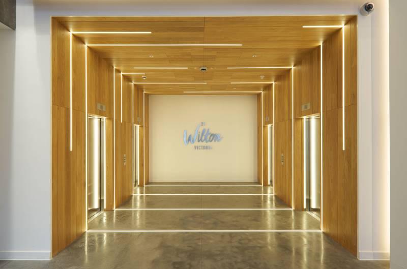 Premium Feature Lighting for Reception Area. 25 Wilton Road, London.