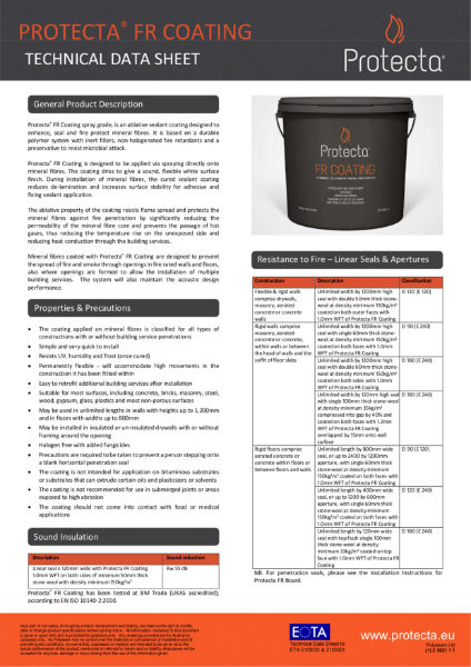 FR Coating - Ablative Sealant Coating For Fire Protection