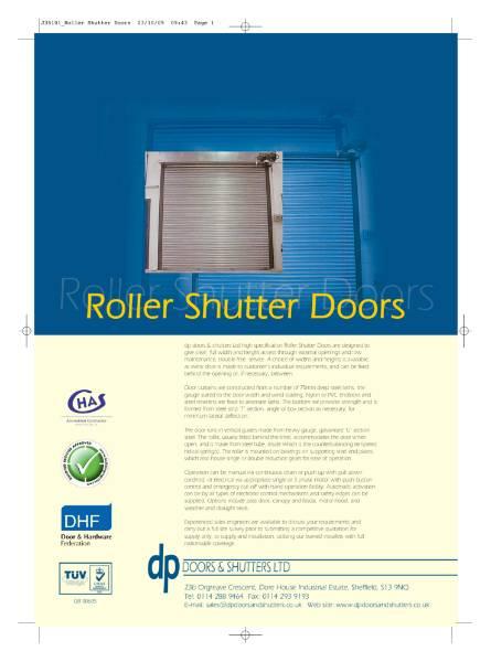 Single Skin Roller Shutter Door