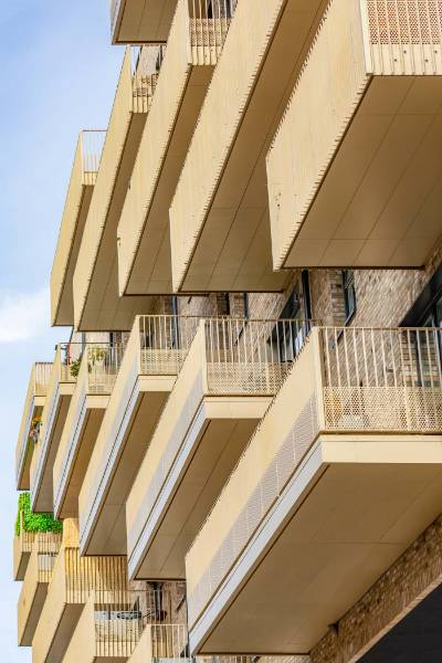 Dales Balcony Soffit Cladding used on Acton Gardens Regeneration
