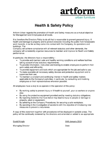 Health & Safety Policy 2019