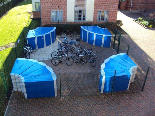 Velo-Safe lockers at Loughborough College