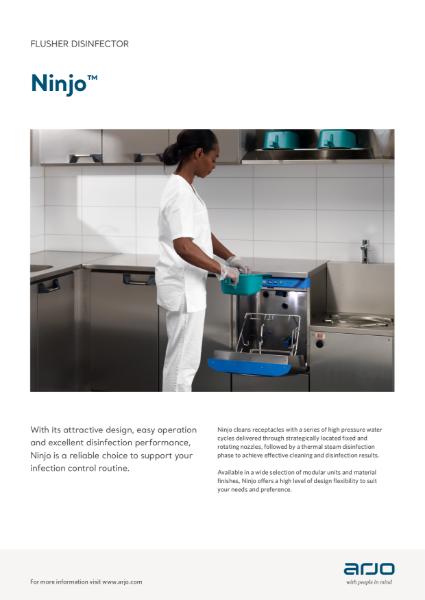 Arjo Flusher Disinfector - Ninjo Bedpan Washer
