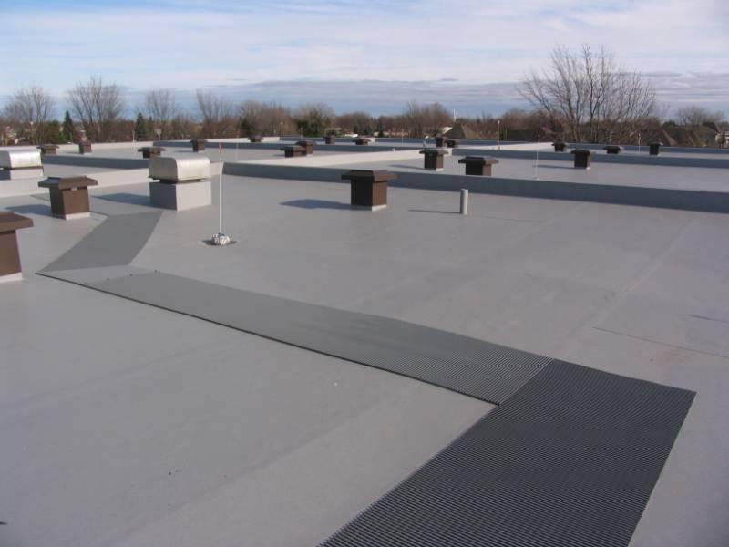 Crossgrip PVC creates safe rooftop walkway