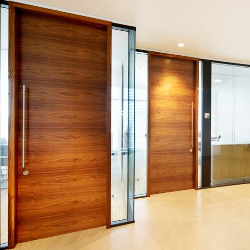 44 mm Thick Timber Door In Microflush Frame - Wood doorsets