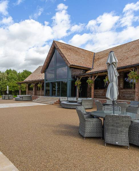 Traditional Resin Bound Surfacing at Oaklands Wedding Venue - Case Study