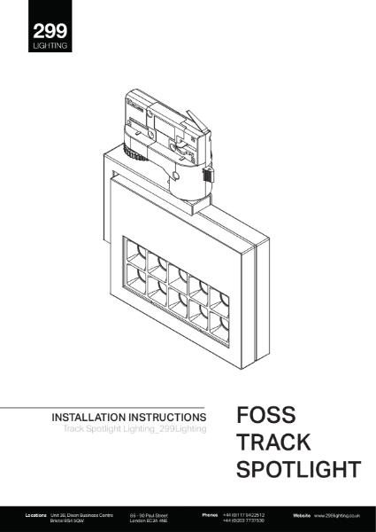 Foss Track Spotlight Installation Instruction