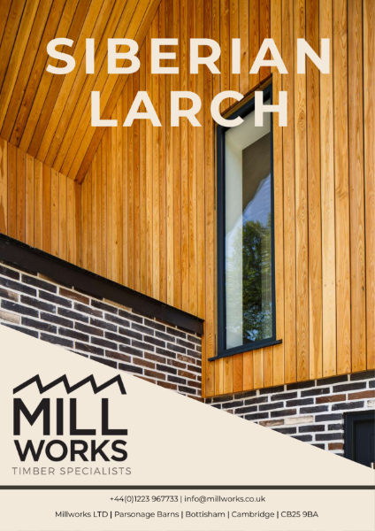 Millworks Siberian Larch Cladding