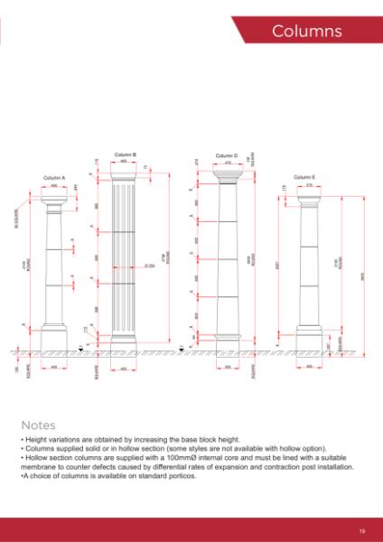 Drawings - Columns & Pillars