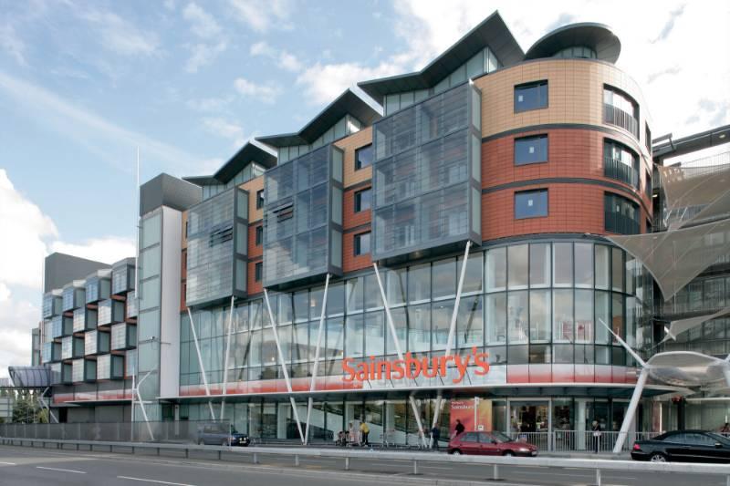 Sainsbury's Maidenhead featuring Reynaers CW 50-SC aluminium curtain walling system