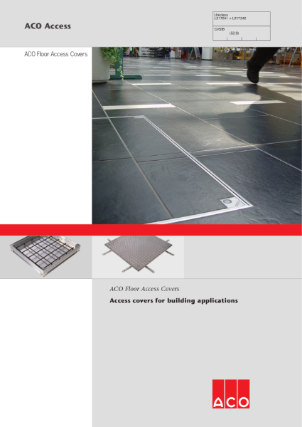 ACO Floor Access Covers for Building Applications Brochure