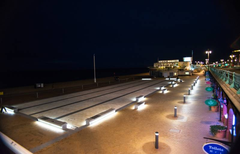 PUBLIC REALM SCHEME MAKES A SPLASH AT BRIGHTON SEAFRONT AROUND THE BA I360 VERTICAL PIER